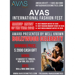 AVAS International Fashoin Fest (Makeup Artist of the Year 2018) 9th & 10th June 2018 New York, USA